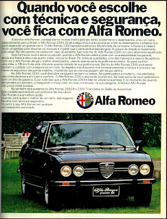 propaganda Alfa Romeo 2300 - TI - 1976. brazilian advertising cars in the 70. os anos 70. história da década de 70; Brazil in the 70s; propaganda carros anos 70; Oswaldo Hernandez;