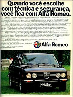 propaganda Alfa Romeo 2300 - TI - 1976. brazilian advertising cars in the 70. os anos 70. história da década de 70; Brazil in the 70s; propaganda carros anos 70; Oswaldo Hernandez;
