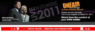 Rich Dad Robert Kiyosaki Los Angeles Unfair Advantage Live Event
