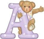 alfabeto ursinho de pijama