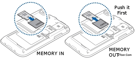 Insert Memory Card Remove microSD slot Install Samsung Galaxy S Plus GT I9001