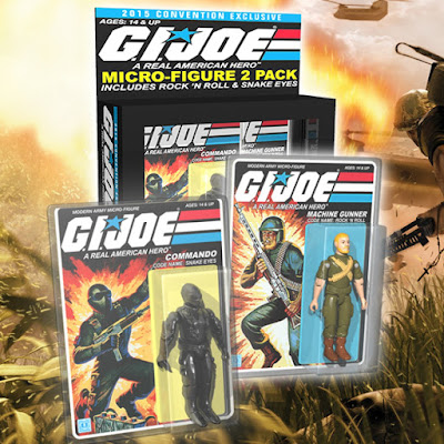 San Diego Comic-Con 2015 Exclusive G.I. Joe Snake Eyes & Rock n' Roll Micro Figure 2 Pack by Gentle Giant
