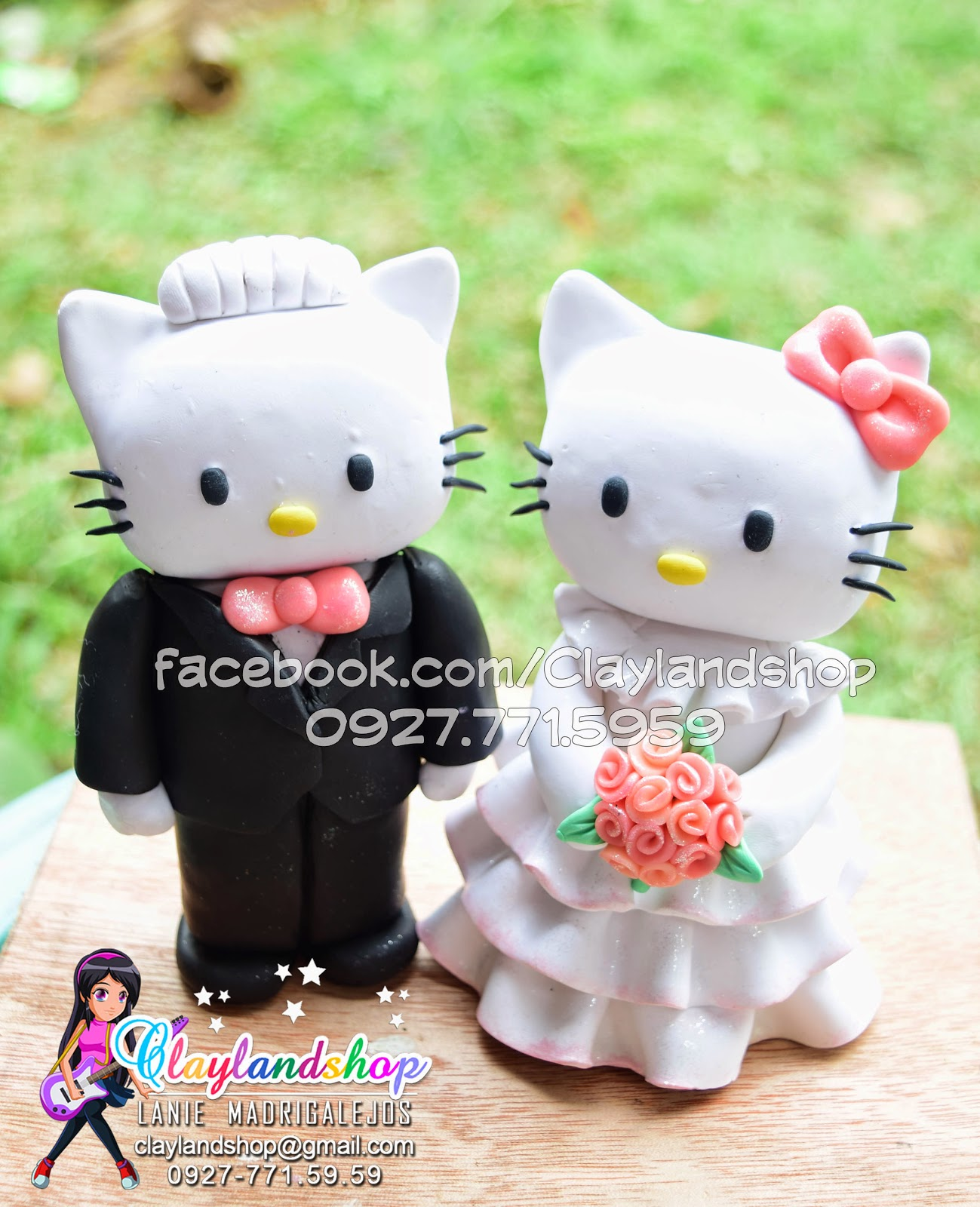 Polymer Clay Hello Kitty Dear Daniel Wedding Cake Topper