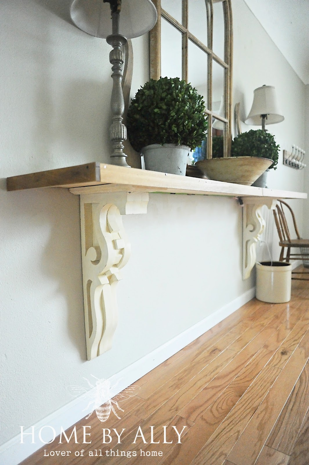 Foyer Table Singapore : Home by ally diy entryway table using corbels