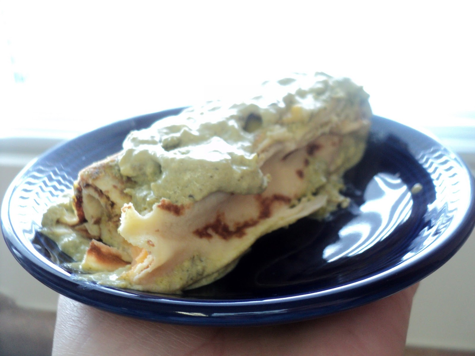 Eat 'em up: Poblano Cream Crepes