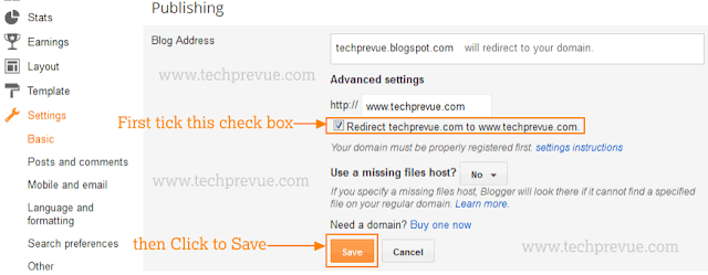 Finally Add Custom Domain, tick the check box and click Save button