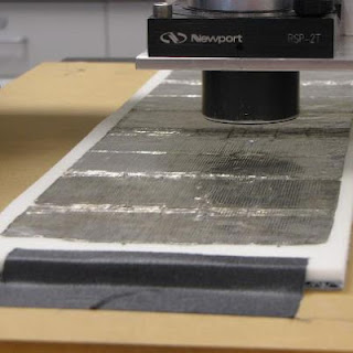 Edison tinfoil after art conservation treatment by objects conservator Gwen Spicer, scanning