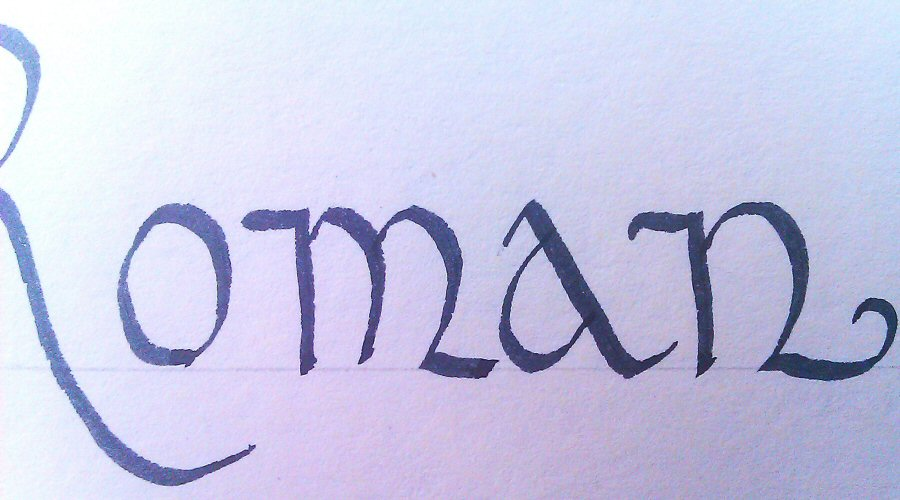 Calligraphy for beginners roman style