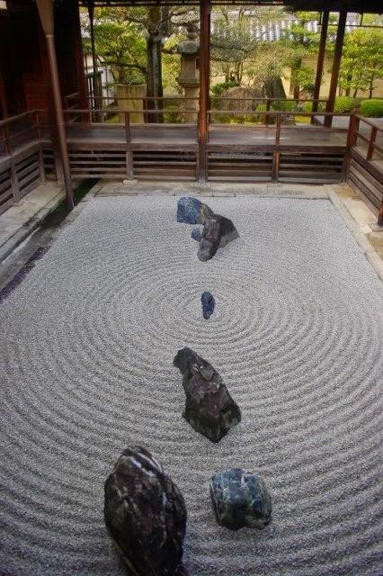 Le jardin de la Trajection (Yû no niwa). Tôkaian, Myôshinji, Kyôto
