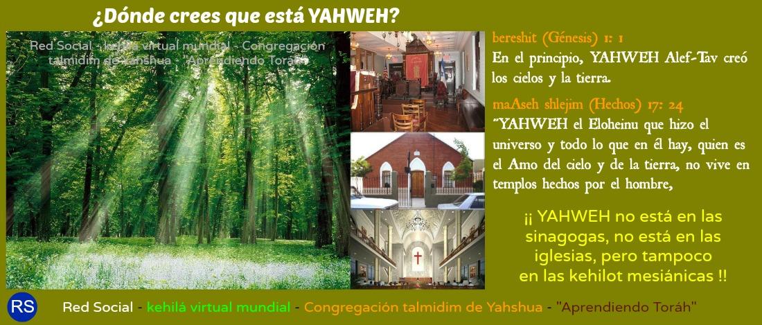HalleluYaH  1YAHWEH+hizo+el+mundo+-+YAHWEH+no+est%C3%A1+en+tempos+hechos+por+las+manos+del+hombre