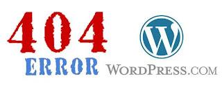 Fix  Error 404 on Wordpress Blog