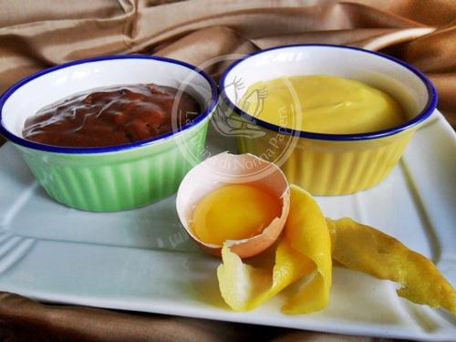 crema pasticcera gialla e nera