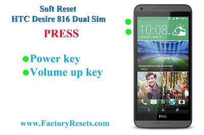 Soft Reset HTC Desire 816 Dual Sim