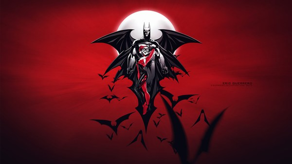 Batman Harley Wallpaper Red 1920x1080
