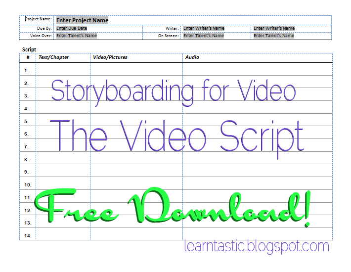 Learntastic Fantastic Learning And Training Storyboarding For