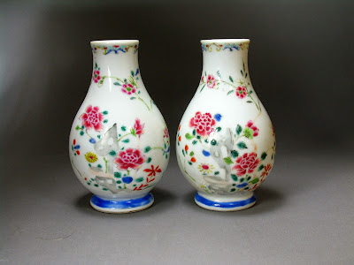 Youngzheng famille rose vases, Beverly Mass collection