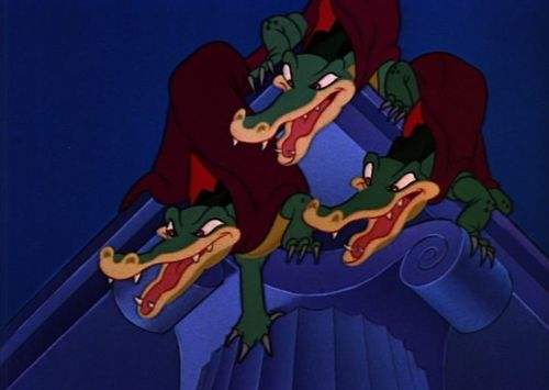 Three dinosaurs in Fantasia 1940 animatedfilmreviews.filminspector.com