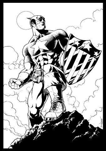 Desenhos Para Colorir Capitão America