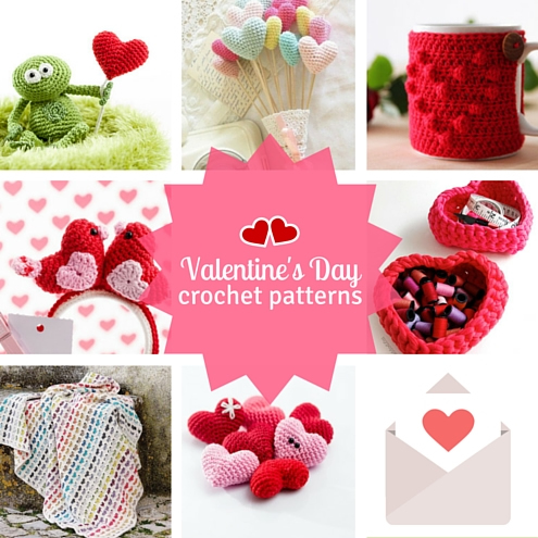 Valentine's Day free crochet patterns | Happy in Red