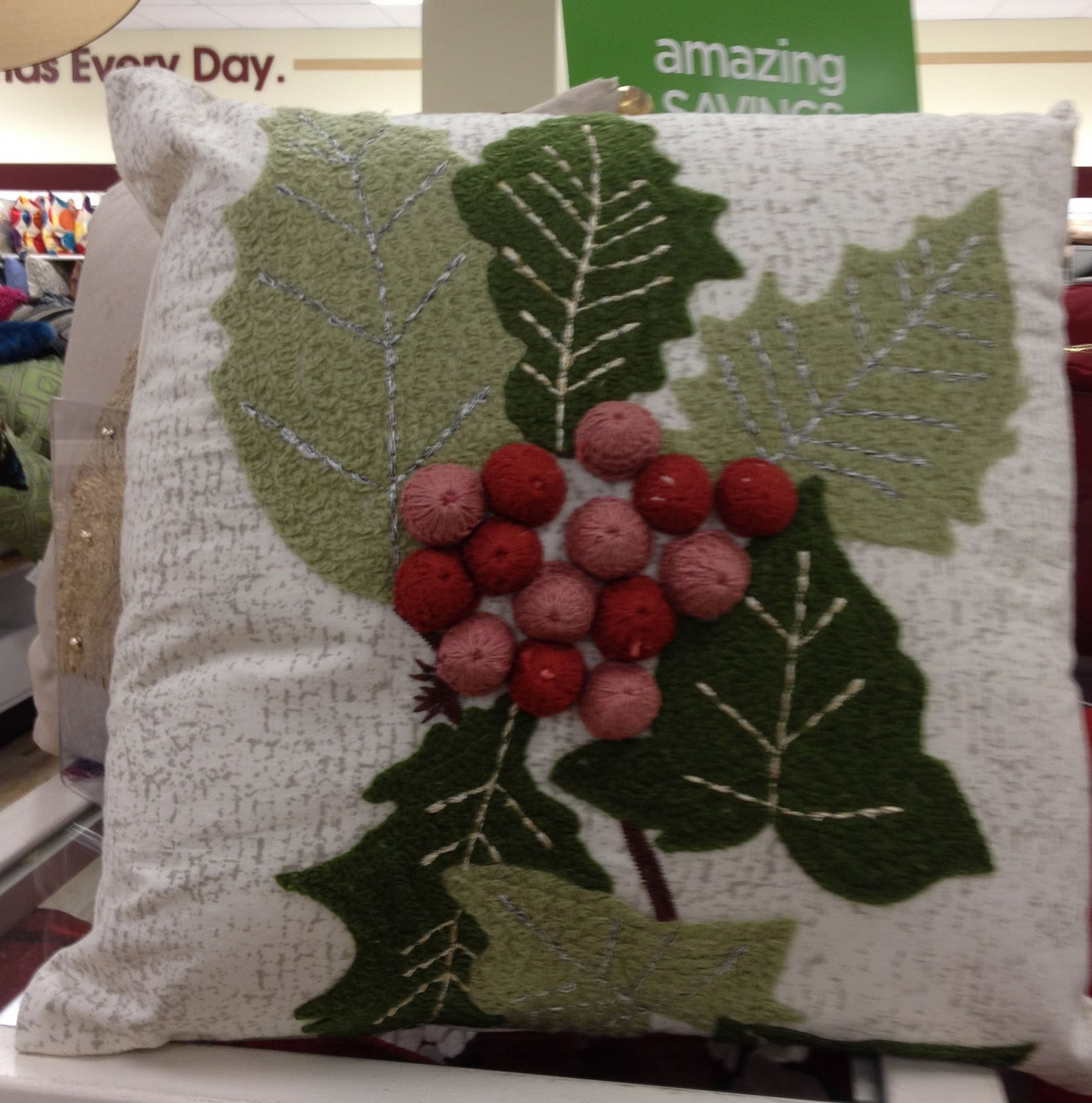 Christmas pillows at home goods driven by decor for Home hardware christmas decorations