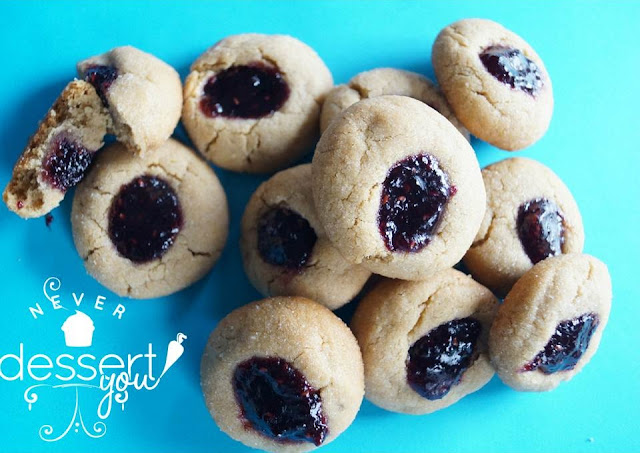 Never Dessert You Peanut & Jelly Thumbprints