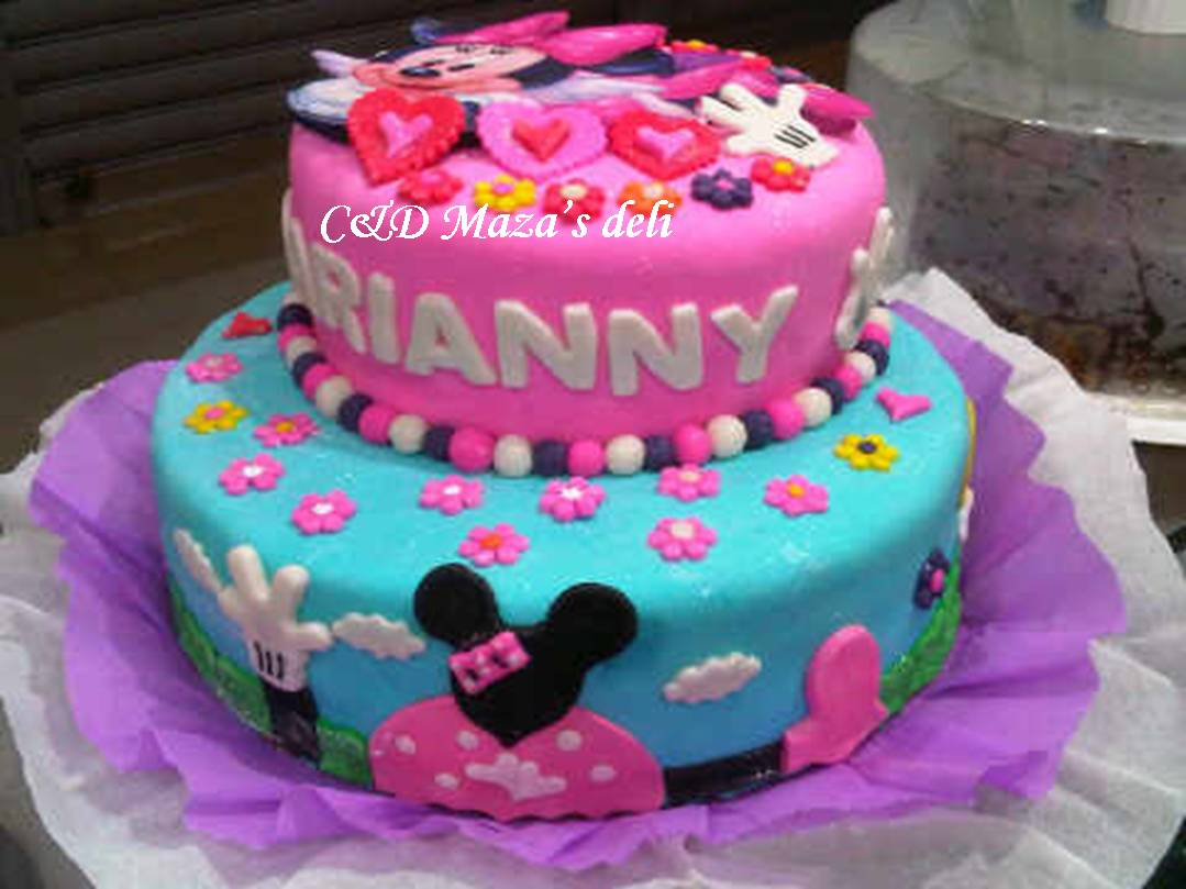 C&D Mazas Deli: Torta Minnie, gelatina y galletero
