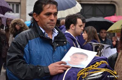Padre de Luis Baz durante el homenaje