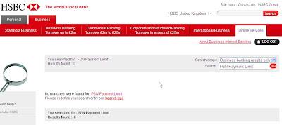 FGN Payment Limit - HSBC