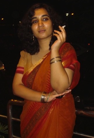 girl Hot smoking indian