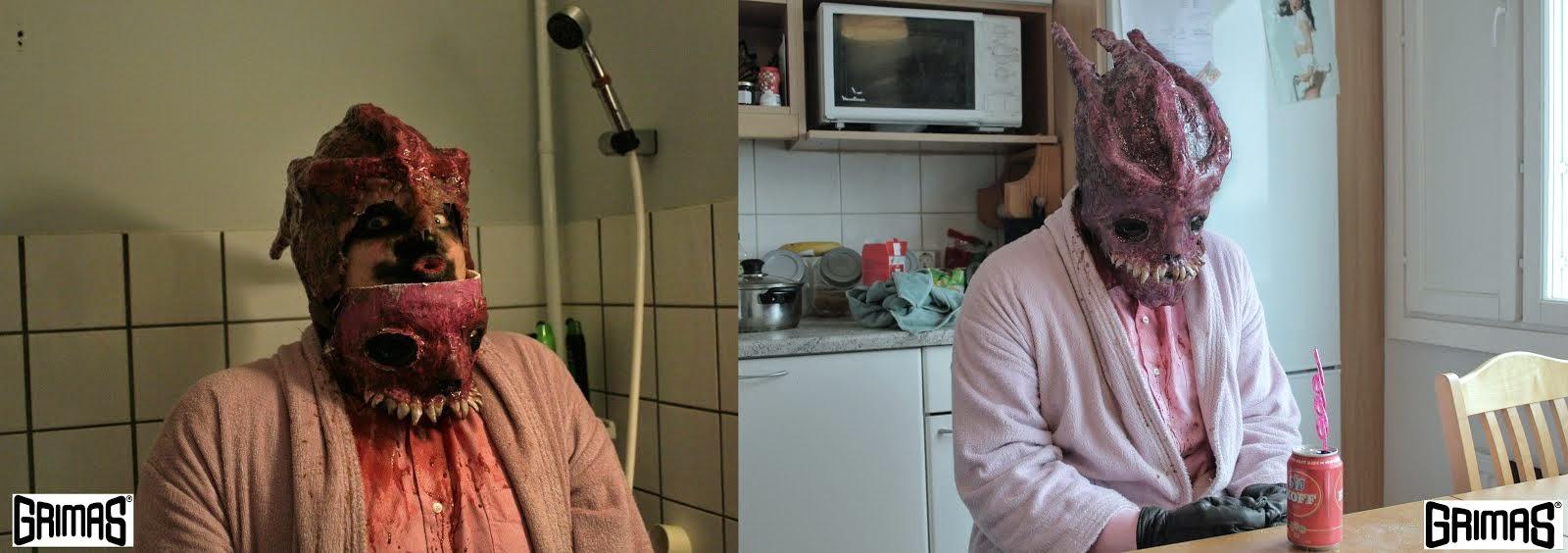 Creature / alien makeup test. Efekti- ja tehostemaskeeraus: Ari Savonen.