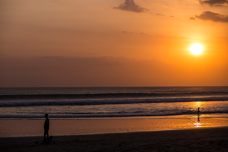 Beautiful Bali beach sunset