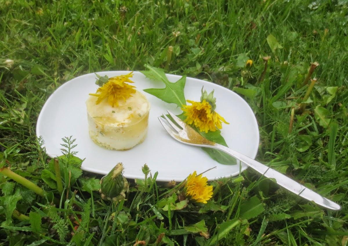 Löwenzahn-Joghurt-Portionstörtchen