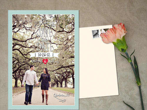Save-The-Date Postcard: Whitney + Will