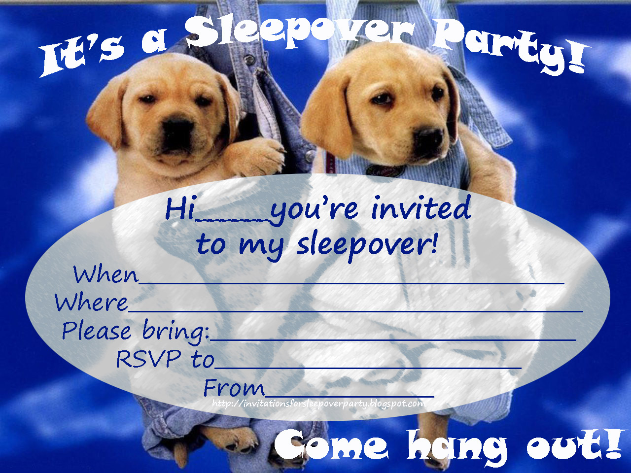 Invitations for sleepover party monicamarmolfo Image collections