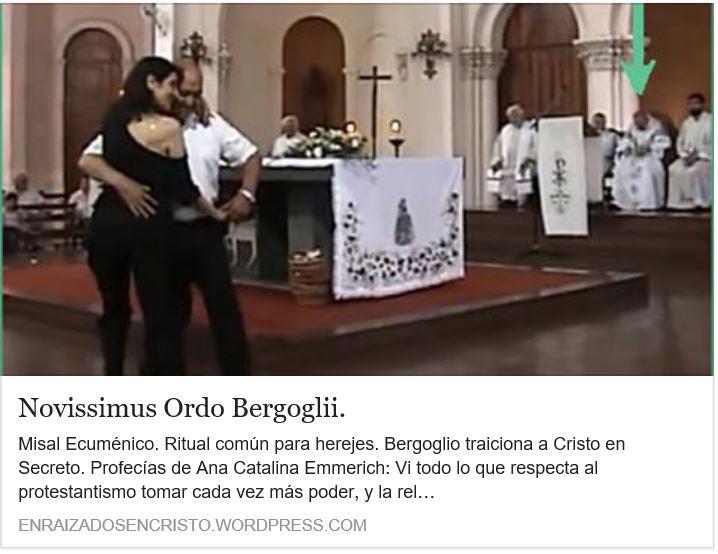 Bergoglio prepara en secreto con los protestantes un ritual herético común.