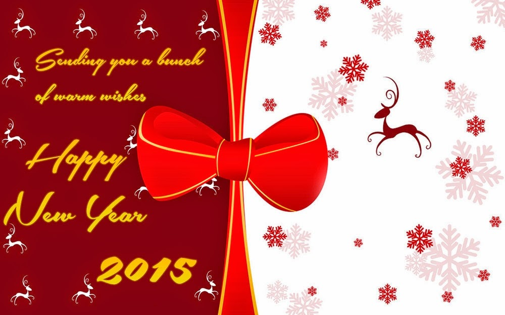 Lovely Happy New Year Greetings Holiday Cards 2015
