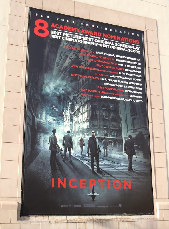 Inception Oscar movie billboard