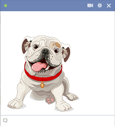 Bulldog Facebook Sticker