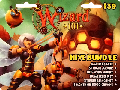 New Wizard101 Hive Bundle Card