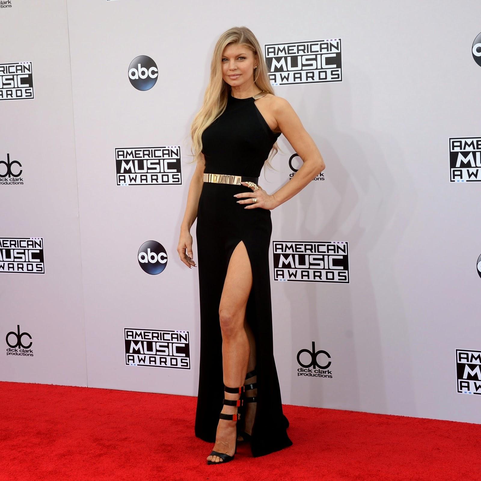 Fergie no American Music Awards em Los Angeles, nos Estados Unidos