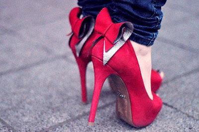 sapato vermelho fashion