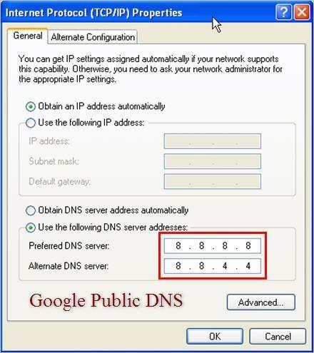 google dns cach vao facebook
