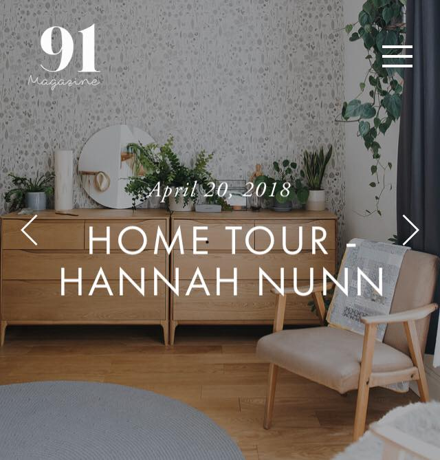 home tour with 91 magazine