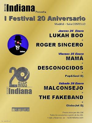 Festival 20 Aniversario Rock Indiana