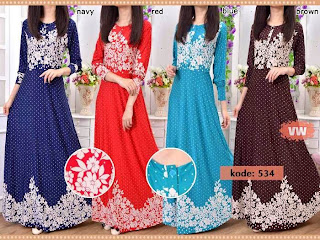 Maxi Dress Bunga