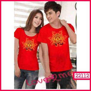 T-shirt Couple Manchester United, Kode 22112
