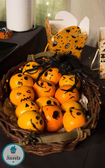Clementine, Mandarine, Halloween, Kürbisgesicht, Pumpkin, Jack o lantern, Halloweenparty, Halloweenbuffet, Halloweendeko