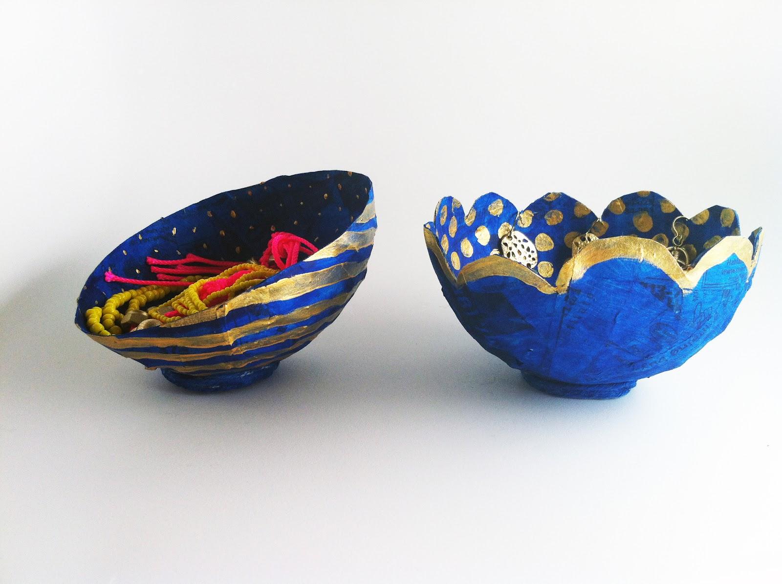 Charm confetti diy tiny paper mache bowls for Diy paper bowl
