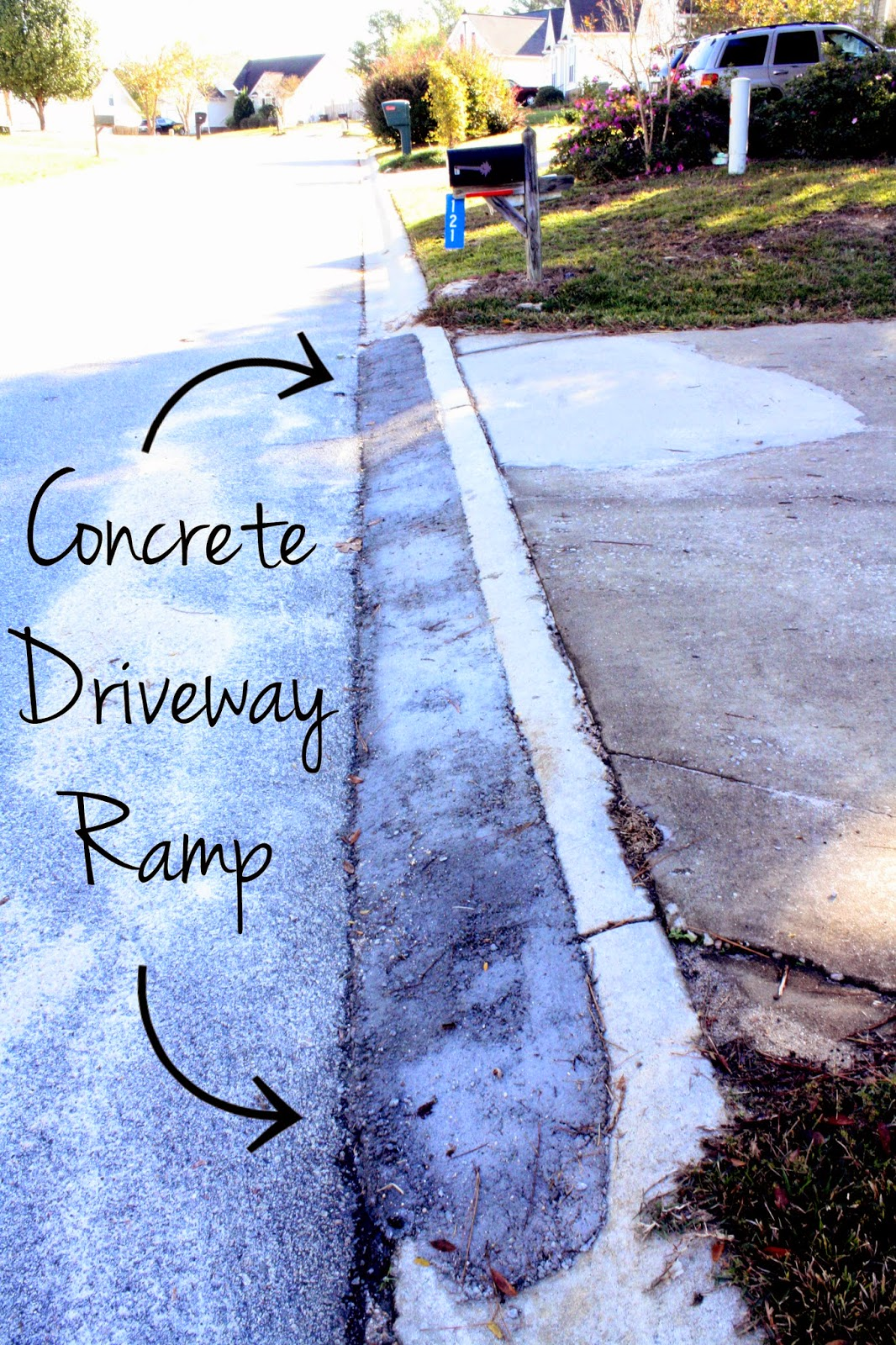 Castle diy how to pour a concrete driveway ramp solutioingenieria Images