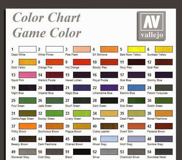 100 chart citadel conversion games workshop for Citadel paint conversion chart